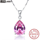 JQueen 13.95Ct Oval Water Drop Pink Topaz Necklaces & Pendants Genuine Silver-Justt Click