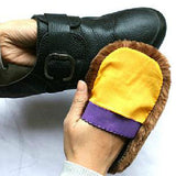 5 X Soft Wool Polishing Shoes Clean Cleaning Gloves Shoe Care Brush Home#33521-Justt Click
