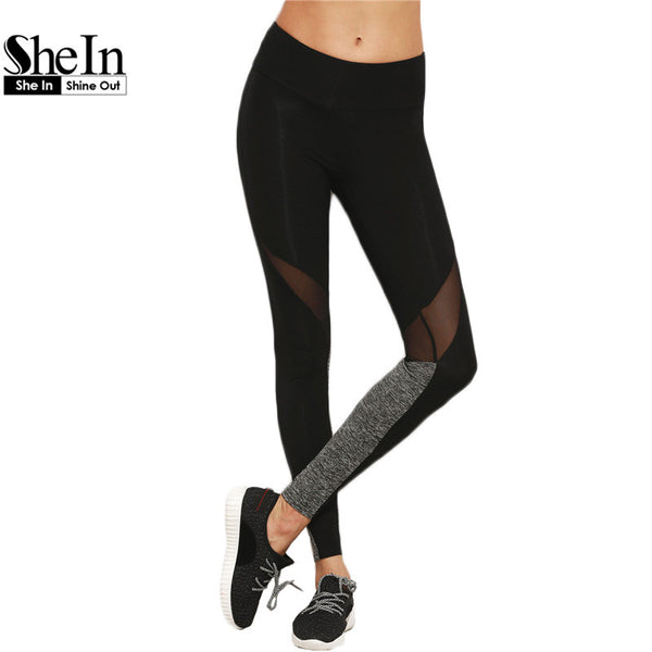 SheIn Women Casual Leggings Fitness Winter Leggings-Justt Click