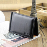 Business Portable Style Men money Clip Wallets With Hasp Card Black Brown Colors Slim Wallet Free Shipping-Justt Click