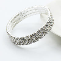 2016 Hot Selling Elegant Full Drill Rhinestone Stretch Bracelet Fashion Jewelry Wholesale - Justt Click