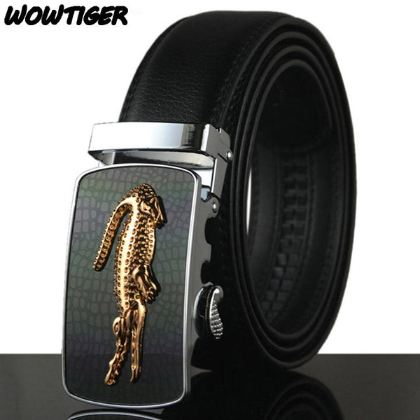 WOWTIGER Belt Man Hot Fashion Cowhide Leather men Designer Luxury Belt-Justt Click
