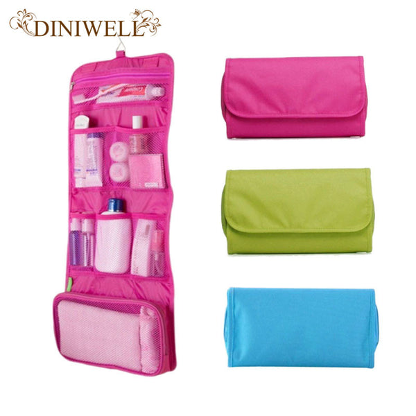 Womens Ladies Travel Toiletry Folding Hanging Wash Cosmetic Makeup Storage Bag Portable Organizer For Outdoor Camping-Justt Click
