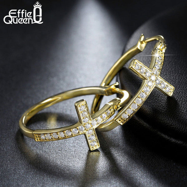 Hot Sale Big Hoop Earrings with CZ Diamonds DAE033-Justt Click
