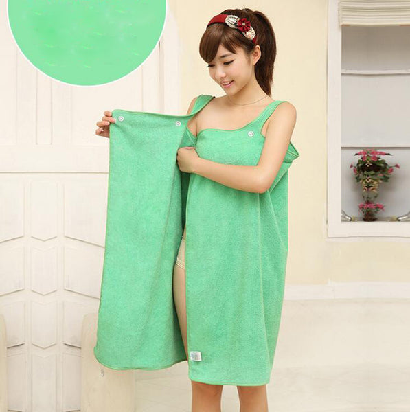 Women Bath Towel Wearable Microfiber Fabric Beach Towel Rose Red Soft Wrap Skirt Towels Super Absorbent Home Textile Hot Sale-Justt Click