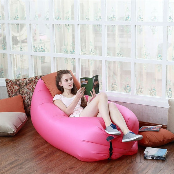 1pc Beach Portable Outdoor Inflatable Bone Furniture Sofa Hammock Sleeping Camping-Justt Click