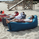 1pc Beach Portable Outdoor Inflatable Bone Furniture Sofa Hammock Sleeping Camping - Justt Click
