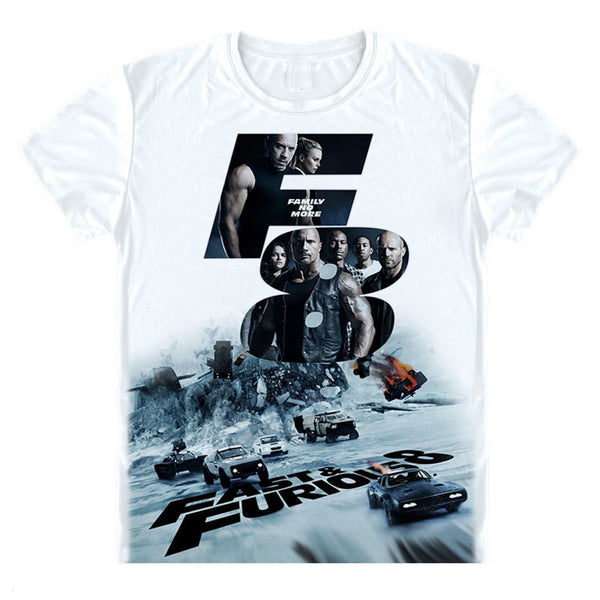 The Fate of the Furious 8 T Shirt The Fate of the Furious Car T-shirt-Justt Click