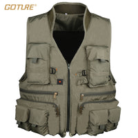Goture Cotton Fly Fishing Vest With Meshing Lining For Angler-Justt Click