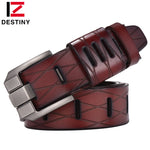 DESTINY Top Genuine Leather Belts Men Luxury Brand Designer High Quality-Justt Click