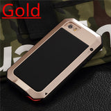 Luxury Doom Armor Life Water Resist Shock Proof Silicone Aluminum Metal Case-Justt Click