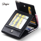 DANJUE Genuine Cow Leather Men Wallet Fashion-Justt Click