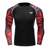 Men Compression Long sleeve Breathable Quick Dry T Shirts Bodybuilding-Justt Click