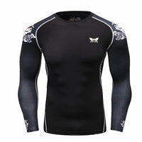 Men Compression Long sleeve Breathable Quick Dry T Shirts Bodybuilding - Justt Click