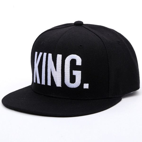 New 2017 Hot Sale KING QUEEN Hip Hop Baseball Caps Canvas Letter Laps Lovers Snapback Sun Hat For Men Women NQ981562-Justt Click