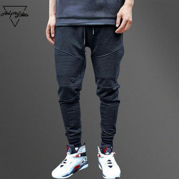 Aelfric Eden G-DRAGON Joggers Sweatpants Pleated Simple Men Pants Feet Ninja Casual - Justt Click