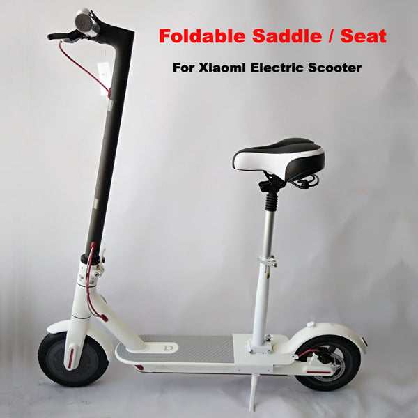 Electric Scooter Seat Foldable Saddle Shock Absorbing Seat Comfortable Folding Chair for Electric Scooter-Justt Click
