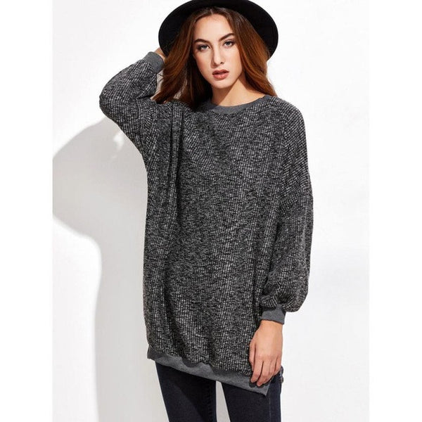 Fashion Women Blouse Winter Warm Long Sleeve O Neck Knitwear Pullover Long blusas feminina verao-Justt Click