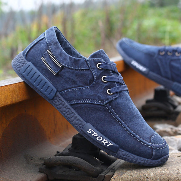 New Fashion Canvas Shoes For Men Low Style Comfortable Denim Mens