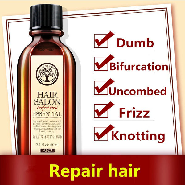Hair Oil Argan oil 60ml keratin free clean hair curly Hair Treatment hair care mask Free shipping-Justt Click