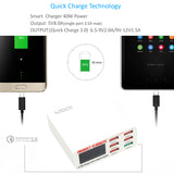 6 Ports Smart Mobile Phone Charger Desktop USB Charger for iPhone Samsung Quick Charger - Justt Click