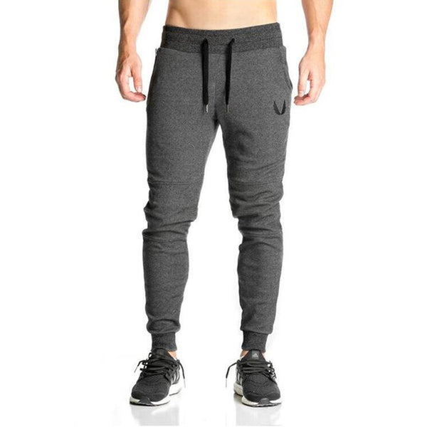 Cotton Men full sportswear Pants Casual Elastic cotton Mens Fitness Workout Pants skinny Sweatpants Trousers Jogger Pants - Justt Click