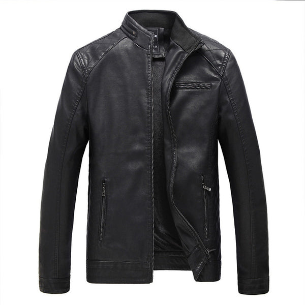 2018 Motorcycle Leather Jackets Men Autumn and Winter Leather Clothing Men Leather Jackets-Justt Click