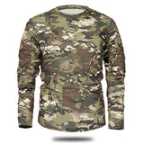 New Autumn Spring Men Long Sleeve Tactical Camouflage T-shirt camisa masculina Quick Dry Military Army shirt-Justt Click