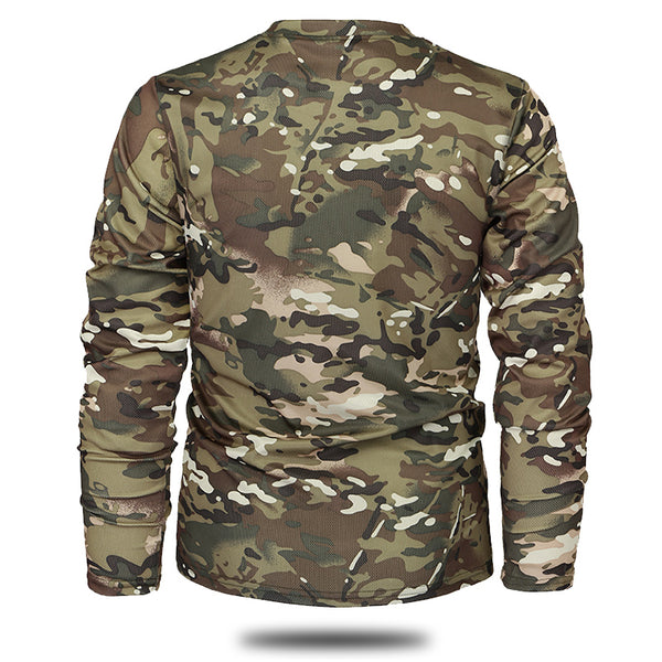 New Autumn Spring Men Long Sleeve Tactical Camouflage T-shirt camisa masculina Quick Dry Military Army shirt - Justt Click
