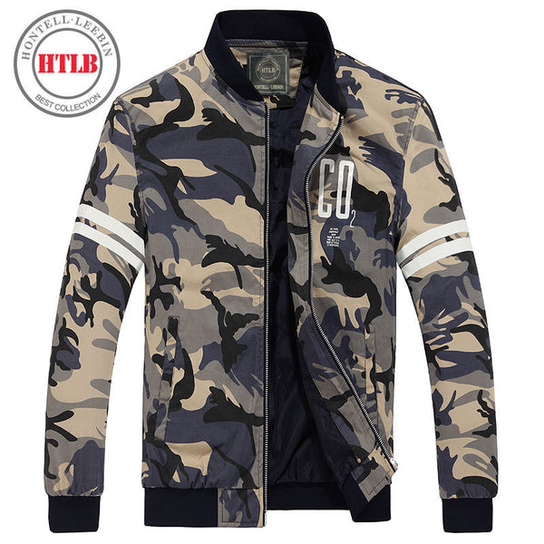 2018 Brand New Men's Bomber Casual Jacket Male Coat Camouflage Military Jacket - Justt Click