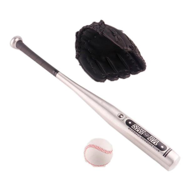 1set Aluminum Beisbol Baseball Bat +Glove +Ball Bate Taco Basebol Beisebol Hardball 24 Inches For kids Gift Younger Than 12-Justt Click