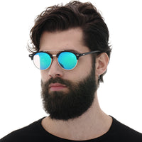 Fashion Mens Club Round Sunglasses Polarized Womens Brand Designer Polaroid Double Bridge Sunglasses Oculos de sol-Justt Click