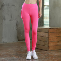 2018 Women Yoga Pant With Pocket Reflector Quick Dry Sports Pants For Women Breathable Fitness Tights Splicing Sport Leggings-Justt Click