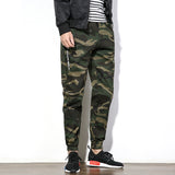 New Arrival Men's Camouflage Pants Drawstring Cargo Men Pants Cotton Trousers Male Slim Fit Casual-Justt Click