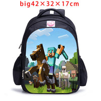 Teenager MineCraft Cartoon Backpack Boy Cartoon School Bags Hot Primary Backpack School Bags for Boys and Girl Mochila Sac A Dos-Justt Click