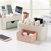 Plastic Desktop Cosmetic Container Household Storage Box Multi-function Jewel Case with Drawer-Justt Click