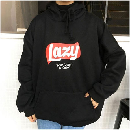 Korean Version Loose Hooded Harajuku Thick Coat Jacket Lazy Tops Sweatshirt Women tracksuit Fleece Hoodies Sweatshirt SWI0306-35-Justt Click