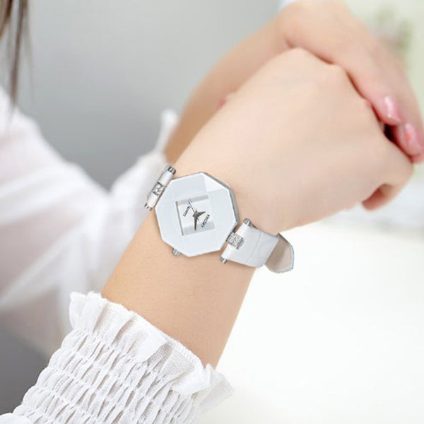 Women Leather Watch Ladies Dress Wristwatches 2017 Fahion Quartz Watches-Justt Click