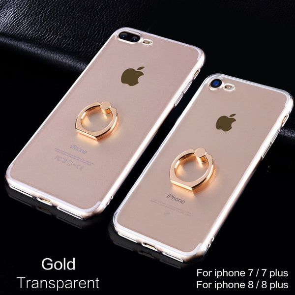 Iphone 7 Phone Ring Holder Case Silicone Cover Original For Iphone 8