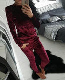 3XL 2017 Women Two Piece Set Female Tracksuit Velvet Hoodies Top + Pants Ladies Long Sleeve Outfit Femme Sporting Suits-Justt Click