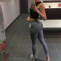 Womens Sport Pants Sexy Push Up Gym Sport Leggings Women Running Tights Skinny Joggers Pants Compression Gym Pants-Justt Click