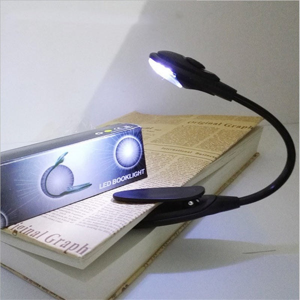 Led Book Light Mini Clip-On Flexible Bright LED Lamp Light Book Reading Lamp For Travel Bedroom Book Reader Christmas Gifts-Justt Click