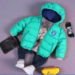 2018 new baby boy clothes Children Autumn Winter Jackets Cotton Coats Baby Boys coat Girls Down Jacket baby girl clothes-Justt Click