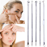 5pcs Pimple Blemish Comedone Acne Extractor Remover Tool Needles Set-Justt Click