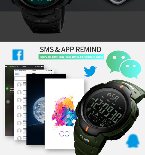 Smart Watch Bluetooth Pedometer Calorie Remote Camera Digital Wristwatches  Fashion Sport Smartwatch For iPhone Android