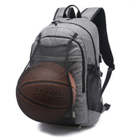 Sport Backpack Men Laptop Backpack School Bag For Teenager Boys Soccer Ball Pack Bag Gym Bags Male With Football Basketball Net-Justt Click