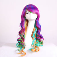 "27.5"" Women's Full Wig Long Curly Hair Heat Resistant Wigs Harajuku Style Hair Wigs Costume Wigs for Cosplay Party Lolita (Dazzle Colour)-Justt Click"