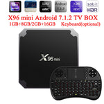 X96 mini Android 7.1.2 TV BOX 2GB 16GB 1GB 8GB Amlogic S905W Quad Core Suppot H.265 UHD 4K 2.4GHz WiFi X96mini Set-top box-Justt Click