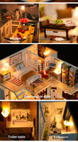 New Doll House Miniature Dollhouse With Furniture Kit Wooden House Miniaturas Toys For Children New Year Christmas Gift-Justt Click