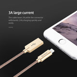 New Lightning to USB Cable for iPhone Cable 3ft 100cm Nylon & Kevlar 2A Fast Charging Cable for iPhone 6 7 Power Line Plus-Justt Click